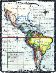 Sketch map of South America by Joel Bradshaw (Flickr). CCBYSA